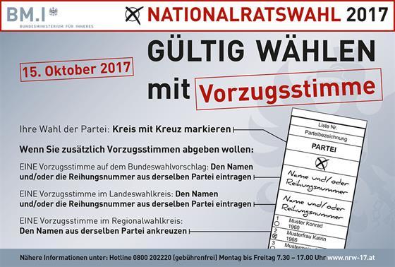 Gültig wählen mit Vorzugsstimme - Weng im Innkreis, Oberösterreich on